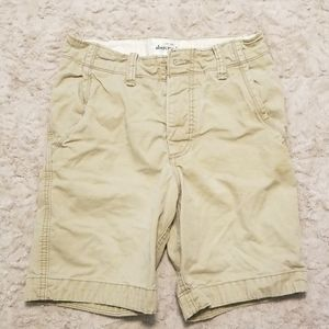 Boys Abercrombie khaki shorts